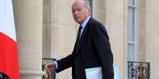 Le défenseur des droits Jacques Toubon arrive à l'Élysée le 17 octobre à