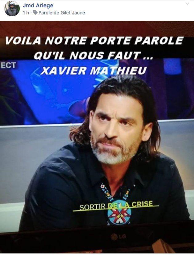 Photo de Xavier Mathieu partagée sur
