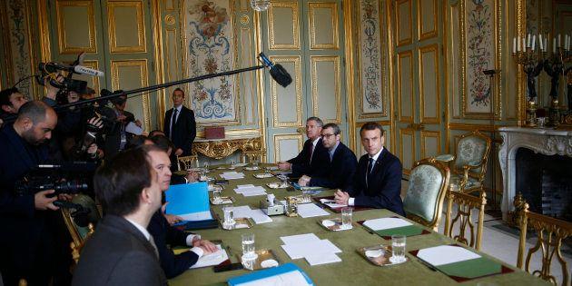 Emmanuel Macron à l'Elysée mercredi 5