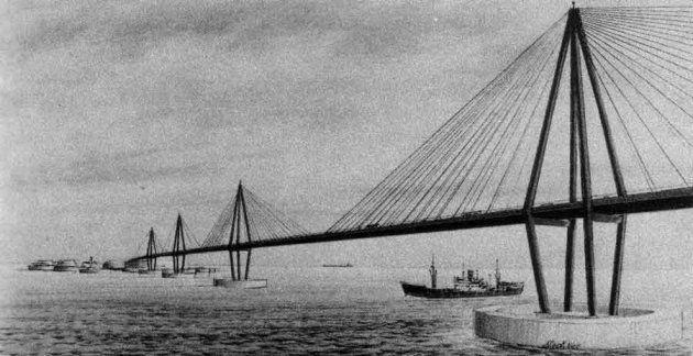 On a déjà pensé à construire un pont plutôt qu'un tunnel sous la Manche,
