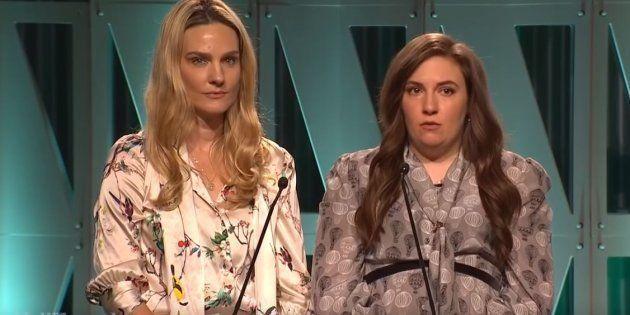 Lena Dunham, ici aux côtés de Brittany