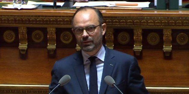 Édouard Philippe s'exprimant au Sénat le 6 décembre