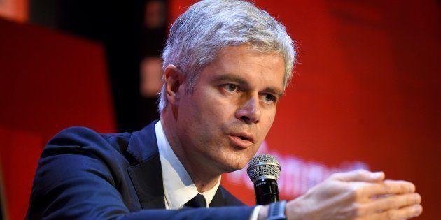 Laurent Wauquiez lors d'une conférence économique à Paris le 6 décembre