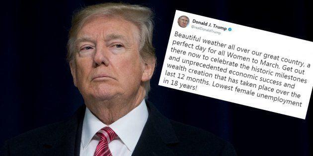 Trump n'aurait peut-être pas dû tweeter ce message de soutien à