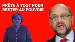 Ces attaques contre Angela Merkel que Martin Schulz va devoir