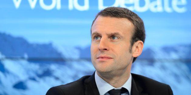Emmanuel Macron lors du forum de Davos en 2016, quand il n'était encore que ministre de