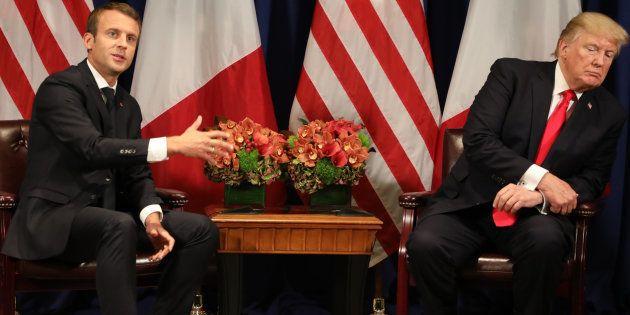 Emmanuel Macron et Donald Trump à New York en septembre