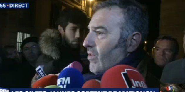 Christophe Chalençon s'est exprimé ce vendredi 7 décembre au soir, au terme d'un long entretien avec...