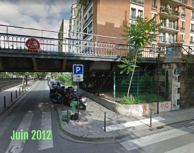 Au croisement entre l'avenue de Saint-Mandé et la rue du Gabon, dans le 12e arrondissement de