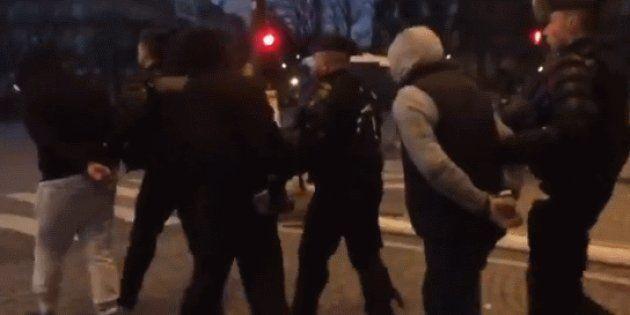 Les forces de l'ordre, ici des gendarmes, ont procédé à un nombre massif d'interpellations en amont de...
