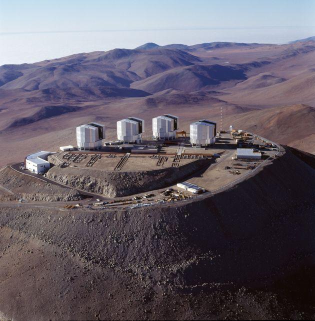 L'Observatoire du Cerro Paranal, dans le désert d'Atacama dans le nord du