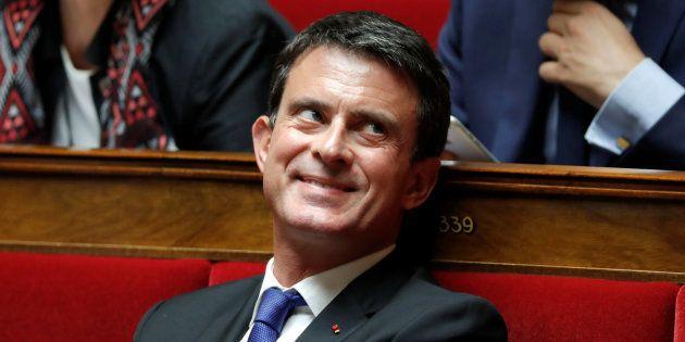 Le député Manuel Valls après sa réélection en juin