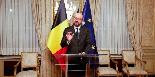 Le premier ministre Charles Michel, ici photographié le samedi 8 décembre, a pris la tête d'un gouvernement...