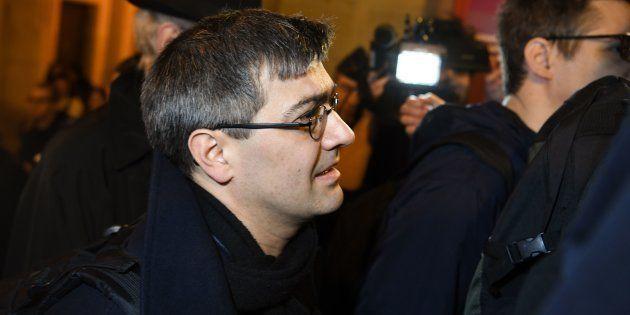 Julien Coupat, ici photographié en mars, a été interpellé à Paris samedi 8