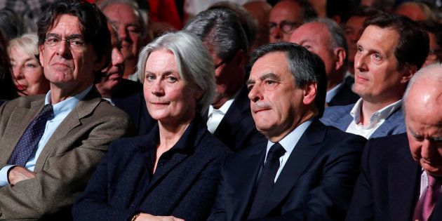 Penelope et François Fillon à Paris le 9 avril