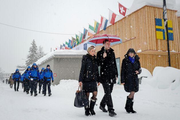 Le 22 janvier à Davos, en