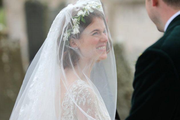 Rose Leslie lors de son mariage avec Kit Harington, le 23