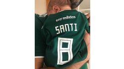 À peine né, le bébé d'Eva Longoria soutient déjà le Mexique au