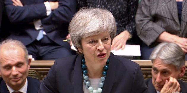 Theresa May au Parlement britannique à Londres le 10 décembre