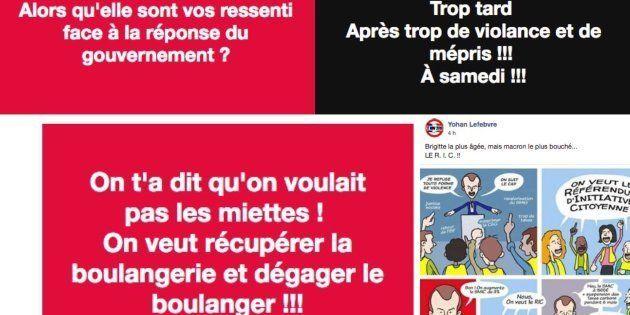 L'allocution de Macron a mis le feu au pages des gilets