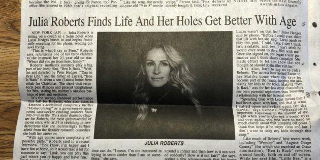 Photo de l'article sur Julia Roberts publié dans