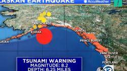 L'alerte au tsunami en Alaska déclenchée après un puissant séisme en