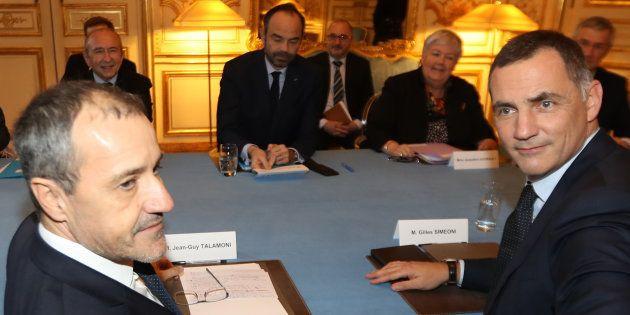 Après une rencontre à Matignon (photo) et une au Sénat, Jean-Guy Talamoni et Gilles Simeoni mettent la...