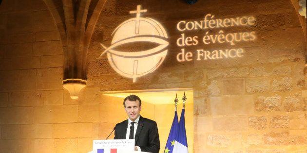Quel catholique est Emmanuel Macron, qui s'exprime ici en avril devant la Conférence des évêques de