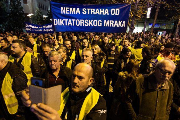 Au Montenegro, des gilets jaunes le 9