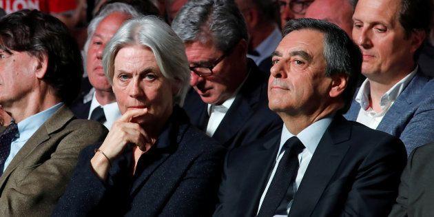 Pendant la campagne présidentielle, le vainqueur de la primaire François Fillon et son épouse Penelope...