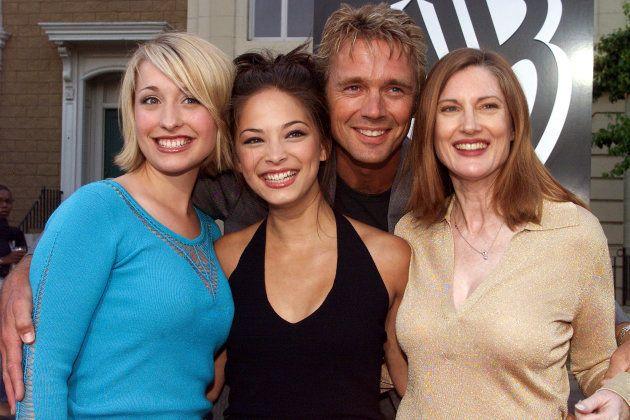 Quatre des principaux acteurs de la série Smallville.