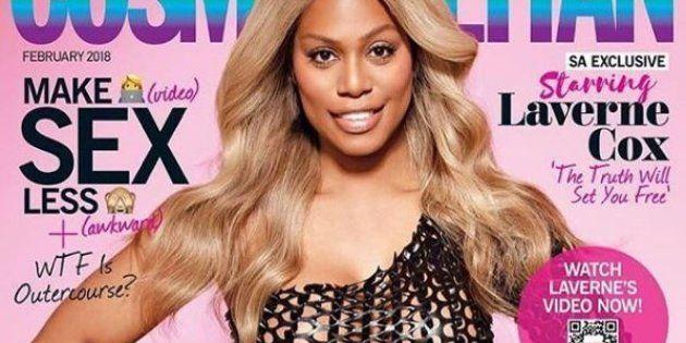 Laverne Cox, première femme trans en couverture de Cosmopolitan