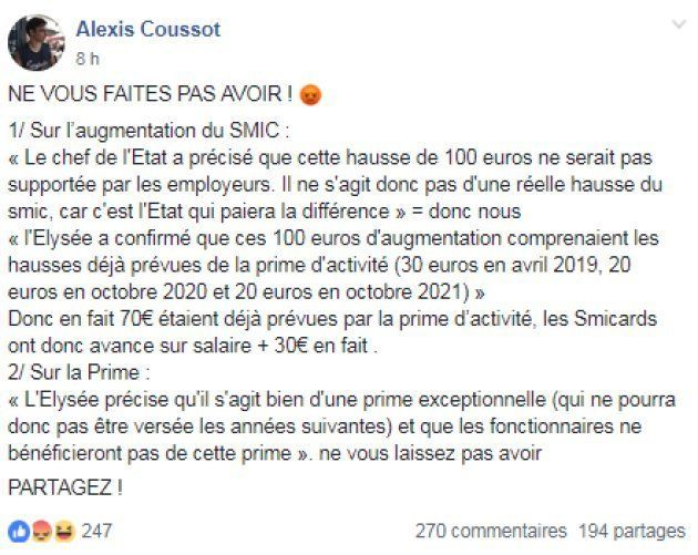 Les gilets jaunes décryptent l'annonce de Macron sur le
