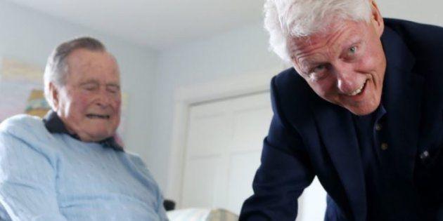La rencontre entre George Bush et Bill Clinton lundi 25 juin