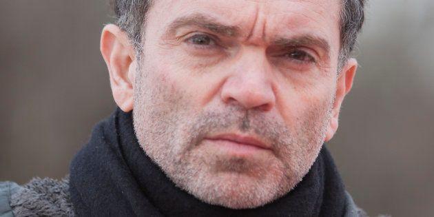 Yann Moix, à Calais le 5 mai