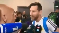 Messi a gardé le porte-bonheur que lui a offert ce journaliste qui n'en revient