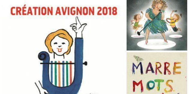 Différentes affiches de spectacles présentés lors du Off d'Avignon