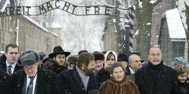 Avec Simone Veil (ici avec Jacques Chirac à Auschwitz pour le 60e anniversaire de la libération du camp),...