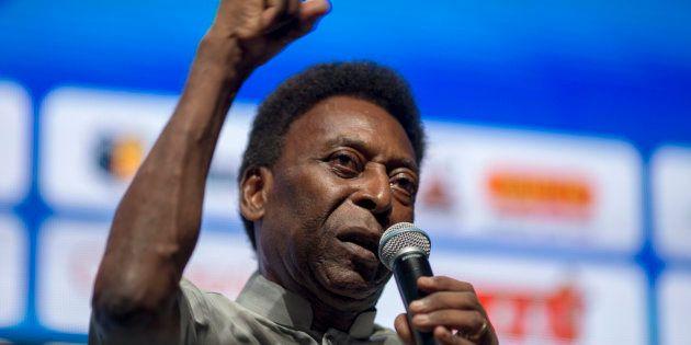 Pelé à Rio de Janeiro le 15 janvier