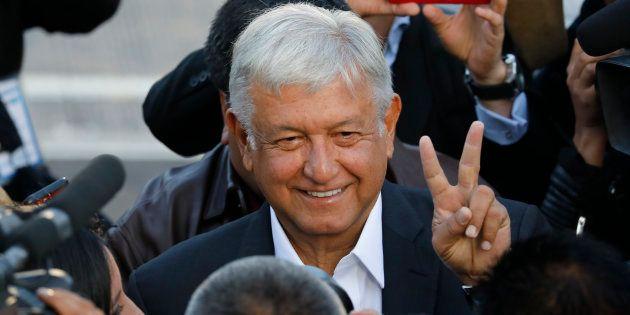 Andrés Manuel Lopez Obrador à Mexico City le 1er juillet