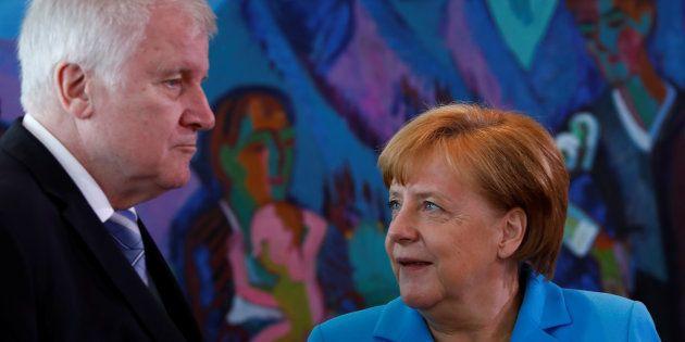 Horst Seehofer et Angela Merkel à Berlin le 13 juin