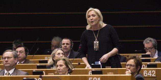 Marine Le Pen au Parlement européen le 25 février
