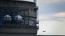 Greenpeace a fait s'écraser Superman sur le site d'une centrale