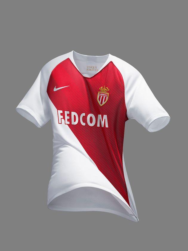 code promo 9c863 25949 L'AS Monaco dévoile son nouveau maillot domicile 2018-2019 ...