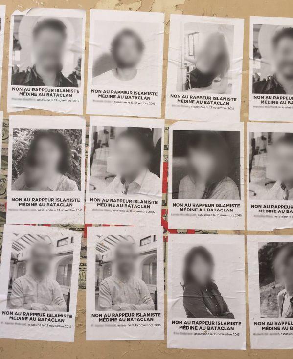 Médine au Bataclan : des familles de victimes dénoncent la récupération de leurs portraits pour la déprogrammation...