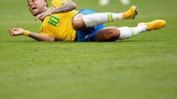 Depuis le début du Mondial, Neymar a passé 14 minutes à se rouler sur la