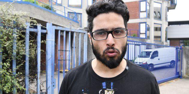 Jawad Bendaoud (ici à Bobigny le 25 avril) en garde à vue pour outrage et