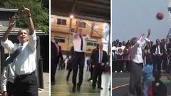 Macron ne joue pas aussi bien au basket qu'Obama ou