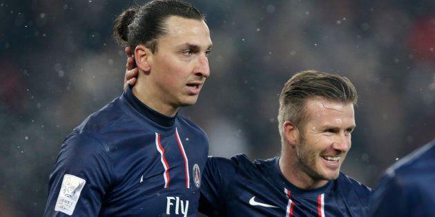 Zlatan Ibrahimovic et David Beckham, du temps où ils évoluaient ensemble sous le maillot du Paris