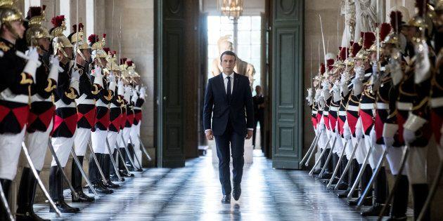 Le président Emmanuel Macron lors de son premier discours devant le Congrès réuni à Versailles en juillet